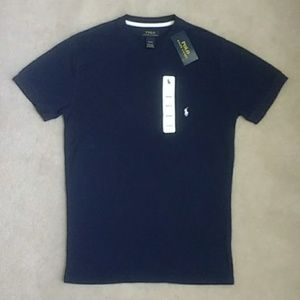 NWT Polo Ralph Lauren Navy Blue Thermal Waffle Tee